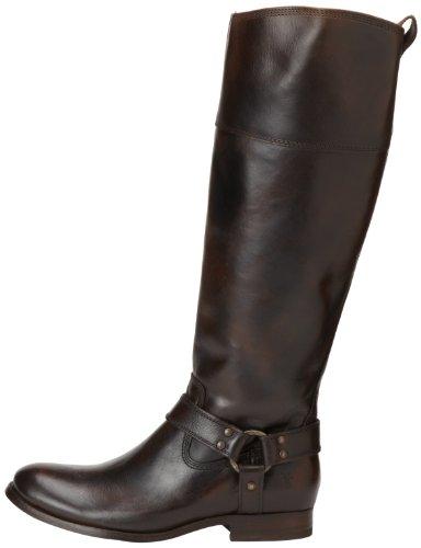 Frye Melissa Harness Zip Mujer Castaño oscuro Piel Zapatos Botas Nuevo EU 36