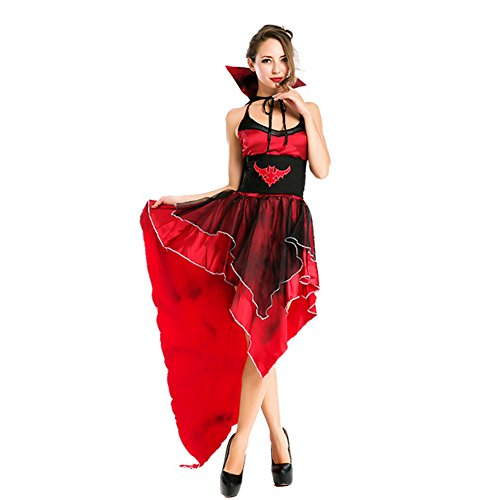[VLUNT Unique Vampire Women Costumes for Halloween Christmas Party] (Angel And Demon Costumes)