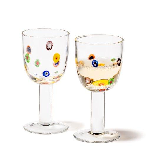 LEONARDO Set/2 White wine Millefiori 086428