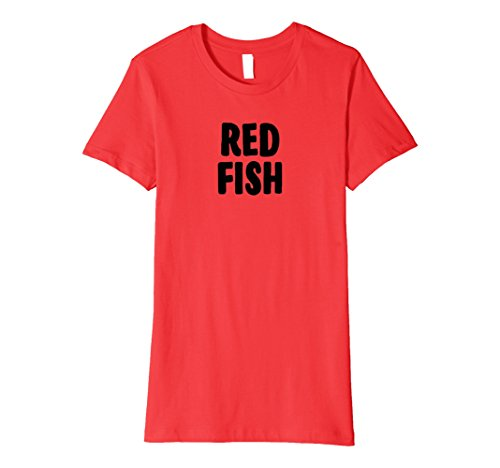 Womens Red Fish Halloween Costume T-shirt Group Costume Idea XL Red -