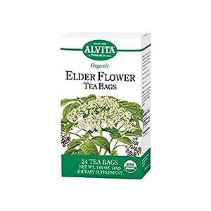 Elder Flower Tea Organic Alvita Tea 24 Bag (pack of 2