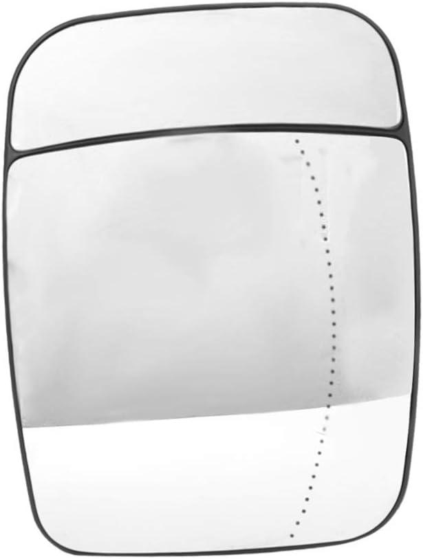 Espejo de ala-puerta de coche eléctrico lado de calentamiento Retrovisor exterior de cristal compatible con Trafic, 95517329 (tamaño : Left)