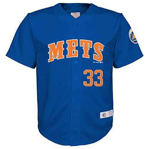 OuterStuff MLB New York Mets Boys Player Harvey Fashion Jersey, Deep Royal, 16/18