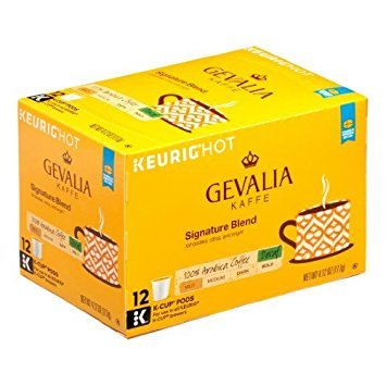 Gevalia Signature Blend DECAF (12-Count Box) (Pack of 6) (Retail Packaging) ()