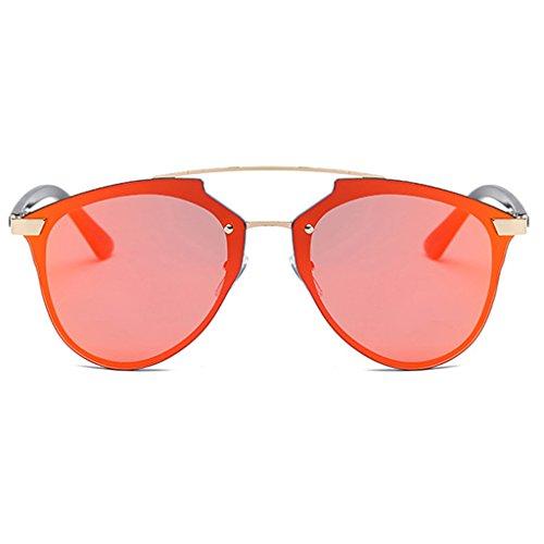 de amp;Gafas mujer amp; protecciónn Gafas de 2 protección UV Color 6 Gafas de 100 sol de LYM de personalidad de sol de moda 57qwOOx
