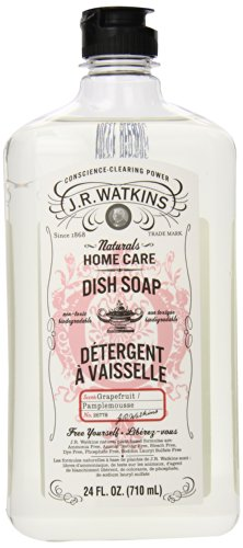 J.R. Watkins Natural Liquid Dish Soap, Grapefruit, 24 Ounce (Pack of 6) by J.R. Watkins