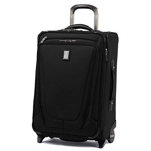 Travelpro Luggage Crew 11 22' Carry-on Expandable Rollaboard w/Suiter and USB Port, Black
