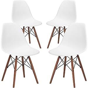 amazoncom white chairs kitchen u0026 dining room furniture home u0026 kitchen