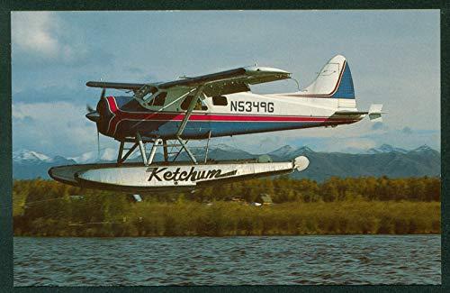 De Havilland Canada DHC-2 Beaver Seaplane Mk1 Ketchum Air Service Postcard