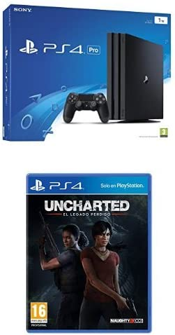 PlayStation 4 Pro (PS4) - Consola, Color Negro + Uncharted: El Legado Perdido: Amazon.es: Videojuegos