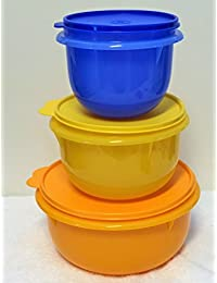 Bargain Tupperware 3 piece Classic Mixing Bowl Set in Spring Colors lowestprice