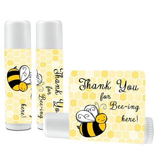 12 Bee Lip Balm Favors - Bee Baby Shower Favor Lip Balms - Bee Birthday Favor Lip Balms - Lip Balm Favors -