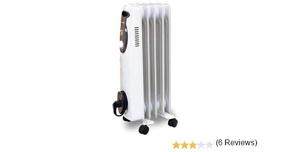 Orbegozo RA1000 - Radiador de aceite, 1000 W, 5 elementos, termostato, color blanco