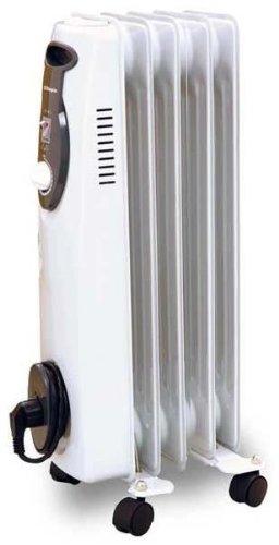 Orbegozo RA1000 - Radiador de aceite, 1000 W, 5 elementos, termostato, color