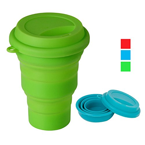 Collapsible Silicone Travel Coffee Camping