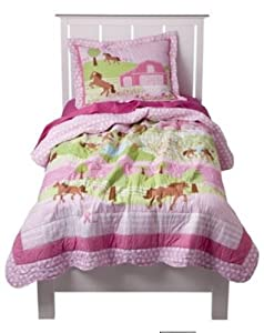 Amazon.com: My Pretty Pony Pink Girls Horse Full Quilt ...
