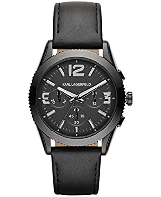 Karl Lagerfeld KL2804 Chronograph Leather Strap Men's Watch