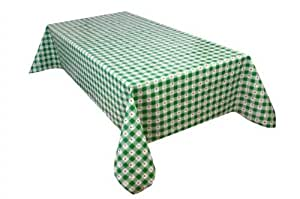 MG Oilcloth-Tablecloth Washable Florista Green - White ( 274-03 ) - 360 X 140 Cm