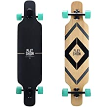 Playshion Freeride Freestyle Drop Through Longboard Skateboard Complete 39 Inch
