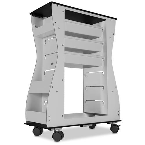 - TrippNT 51474 Aluminum Polyethylene Composite Light Duty Cart, Hourglass 2 -Sided, 85 lb. Capacity, 24