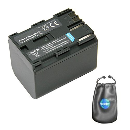 Digital Replacement Camera and Camcorder Battery for Canon BP-522, BP-512, BP-514 - Includes Lens Pouch ()