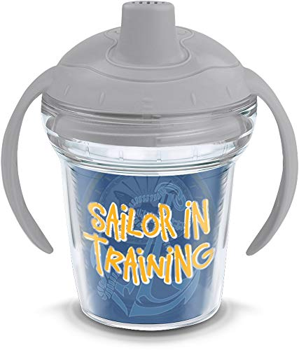 Tervis 1213260 Navy Sailor in Training Sippy Cup with Lid, 6 oz, Clear