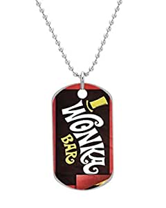willy wonka chocolate Custom Dog Tag Dimensions 1.3X2.2X0.1 inches ,Comes with 30