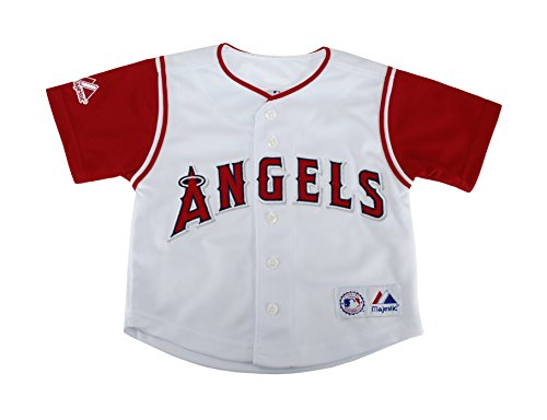 Majestic Kid's Los Angeles Angels of Anaheim White/Red Jersey Size 5/6 – DiZiSports Store