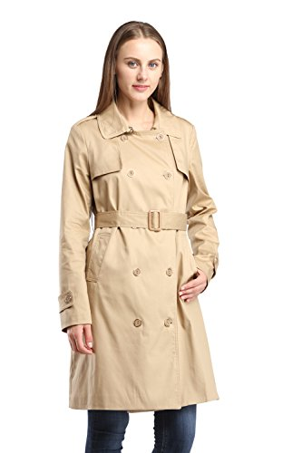 Women's Cashmeres Coats Belted Shawl Collar khaki - 1