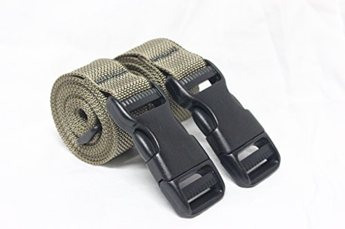 Molle Backpack Accessory Straps - Quick Release Buckle - Made in USA (Tan (Heavy Duty Military Spec (Ladder Quick Release)
