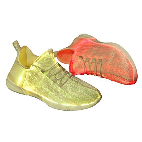Genda 2Archer Unisex Männer und Frauen Kinder LED Schuhe Leuchten Sneaker Farbwechsel Blinkende Trainer