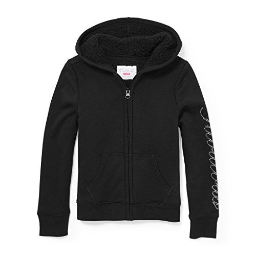 - The Children's Place Big Girls' Fashion Hoodie, Black 88862, S (5/6)