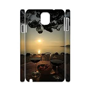 case Of Sunset 3D Bumper Plastic customized case For samsung galaxy note 3 N9000