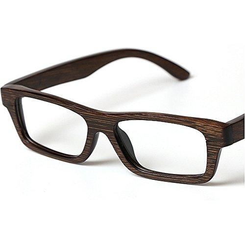 a alta los Adult Marco de madera primavera de gafas de gafas de mano hombres de de la calidad de cuadros marco bambú de Marco artístico ocio los vidrios del vidrios hechos Eyewear clásico Marco de los xHrw4q10H