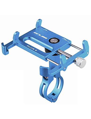- GUB Universal Bicycle & Motorcycle Cell Phone Mount, Full Display Phone Bike Holder with 360° Rotation Adjustable For Iphone X, Huawei P20, Samsung Note9 Note9+ (PLUS6 BLUE)