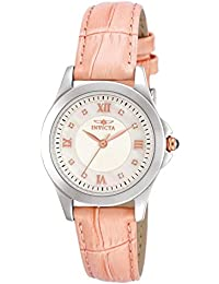 Women's 12544 Analog Display Angel Diamond-Accented Pink Leather Watch with Interchangeable Straps