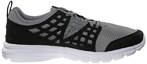 Reebok velocidad de subida del zapato corriente Flat Grey / Black / Solar Yellow / White / Reebok
