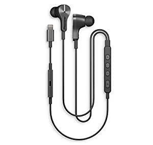 Pioneer Rayz Plus Smart Noise Cancelling Earphones - Talk while charge, only Earbuds with Apple 2nd generation Lightning Audio Technology, Graphite
