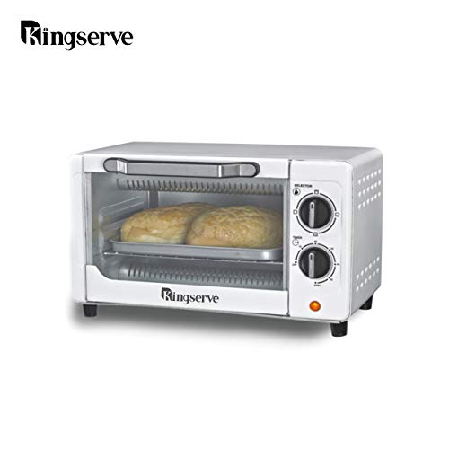 KingServe Small Toaster Oven,Stainless Steel Countertop Convection Oven,Small Kitchen Appliances Compact Toaster Oven Small Space(Silver)