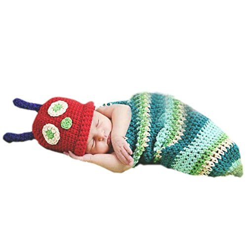 Pep-Baby® Handmade Knitted Crochet Hat Costume Newborn Baby Photograph Props Set Insect