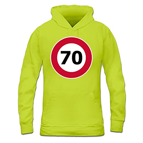 Sudadera con capucha de mujer 70 Speed Limit by Shirtcity verde limón