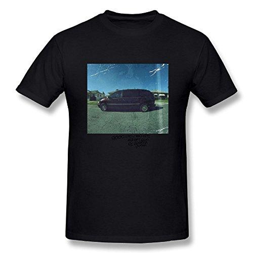 - Loyd D Men's Fashion Kendrick Lamar Good Kid M.a.a.d City T-Shirts Black 4XL
