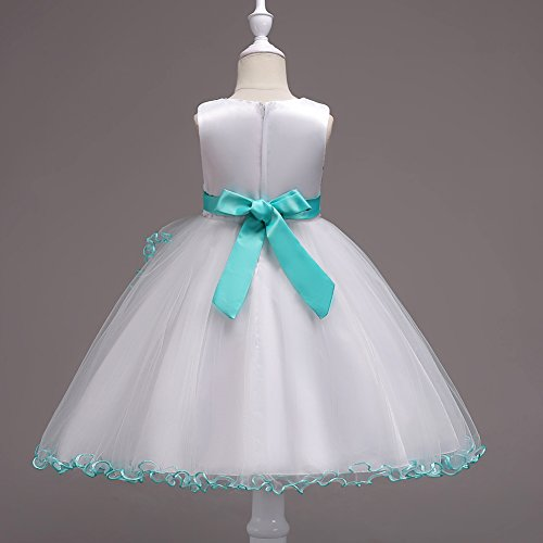 Princess Dress and Girl Promo 140 Agogo Bridesmaid Size 164 116 152 Lace Party Verde 128 Evening Prom 134 104 Paillettes Balloon Tulle Flower Floral Short E6AEvWq0nf