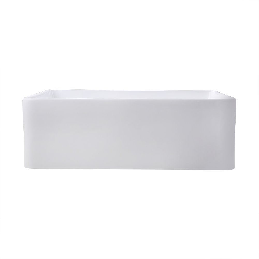 KES cUPC Fireclay Sink Farmhouse Kitchen Sink (30 Inch Porcelain Undermount Rectangular White) BVS117 by Kes (Image #8)