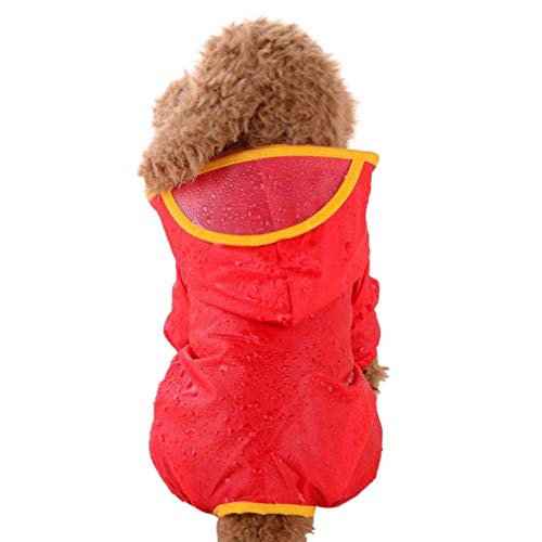 fogohill Small Medium Dogs Pet Puppy Rainwear Hooded