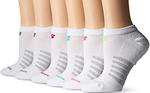New Balance Women's 6 Pack Core Cotton No Show Socks