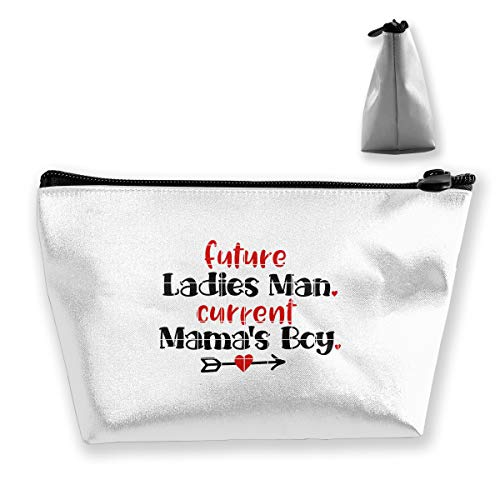 Trapezoidal Cosmetic Bags Makeup Toiletry Pouch Future Ladies Man Current Mama's Boy Travel Storage Bag Phone Purse