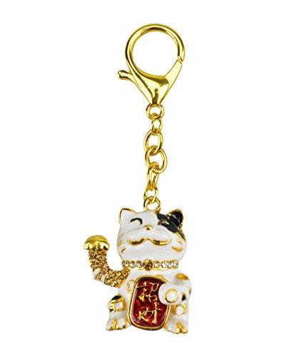 New Feng Shui Lucky Cat Keychain W Fengshuisale Red String Bracelet W2090