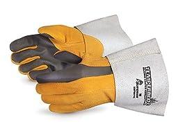 Superior 335TBDTIG Temperbloc Deerskin Leather TIG Welder Glove with Palm, Work, Large (Pack of 1 Pair)