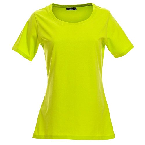 amp; James Nicholson 3 shirt Maniche Opaco Bianco Donna A Collo T 4 U U4dqRW4Z